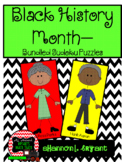 Black History Month Activities -- Sudoku Puzzle Bundle