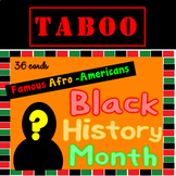 Black History Month Taboo Game