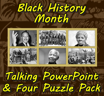 Black History Month Talking PowerPoint & Four Puzzle Pack