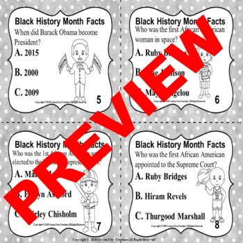 Black History Month Task Cards