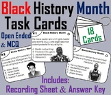 Black History Month Task Cards: Martin Luther King, Rosa Parks, Jesse Owens etc.