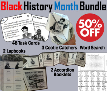 Black History Month Task Cards and Activities Bundle (Civi