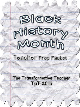 Black History Month Teacher Prep