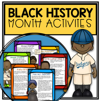 Black History Month: Text, Comprehension Questions, & Interactive Journals