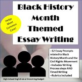 African-American/ Black History Month Themed Essay Writing, Rubrics & Printables