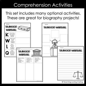Thurgood Marshall Activities - Black History Month