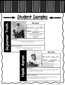 Black History Month Trading Card Activity