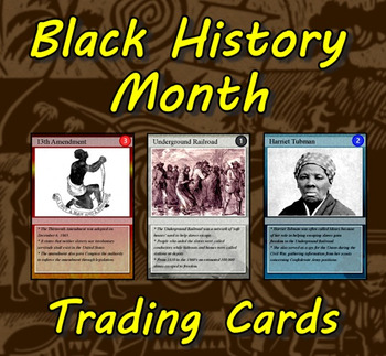 Black History Month Trading Cards