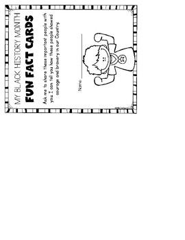 Black History Month {Fun Fact & Folder} Social Studies for Kindergarten & First