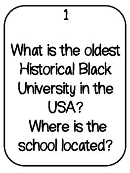 This is a picture of Juicy Black History Month Quiz Printable