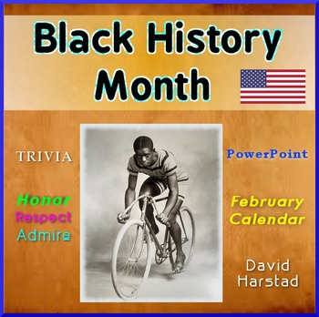 Black History Month - February Trivia Calendar (PowerPoint)