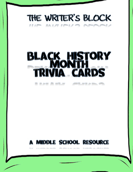 Black History Month Trivia Cards