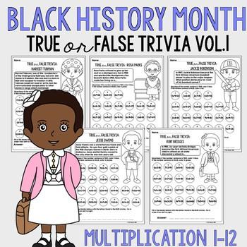 Black History Month Multiplication Volume 1
