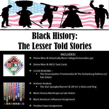 Black History Unit: The Lesser Told Stories