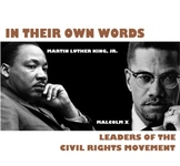 "Black History Month Unit: ""In Their Own Words"" - Civil Rights Leaders"