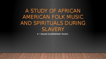 Black History Month Unit for Elementary General Music