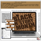 Black History Month Video Notes & BINGO Menu Board {Google Digital Resource}