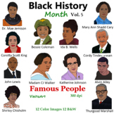 Black History Month Vol. 5  Famous People