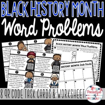 Black History Month WORD PROBLEMS