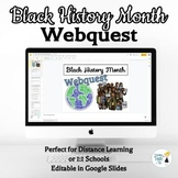 Black History Month Webquest - Using Google Slides - NO PREP