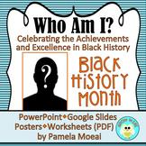 "Black History Month ""Who Am I?"" with PPT & Google Slides Link"
