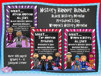 Black History , Women's History Month, and President's Day Bundle