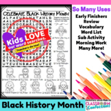 Black History Month: Word Search