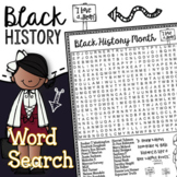 Black History Month Word Search Activity