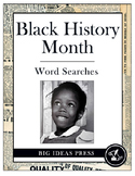 Black History Month Word Search Bundle Pack (Grades 2-5)