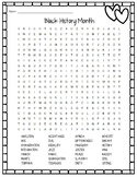 Black History Month - Word Search - FREE