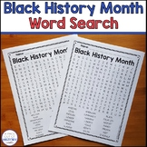 Black History Month Word Search Free