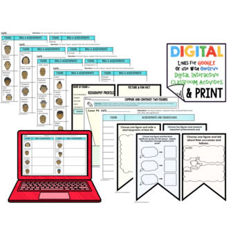 Black History Month Word Wall, Profiles, Activity Pages Digital with Google Link