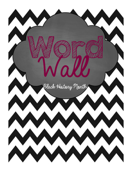 Black History Month Word Wall Words with sign