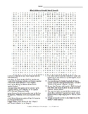Black History Month Wordsearch AND Crossword with keys