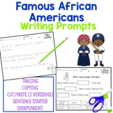 Black History Month Writing Activities for students with autism