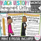 Black History Month Writing, Notable People Paragraph/Sent