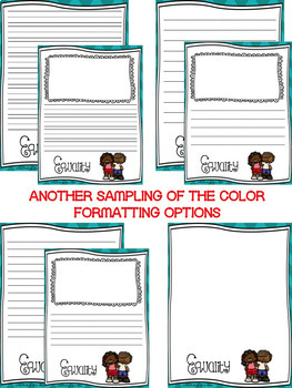 Black History Month Writing Paper--Black History Month Stationary-DIFFERENTIATED