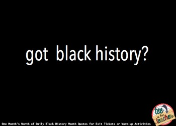Black History Month Writing Prompts