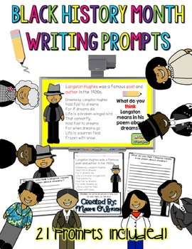 Black History Bios and Writing Prompts: Project and Respond