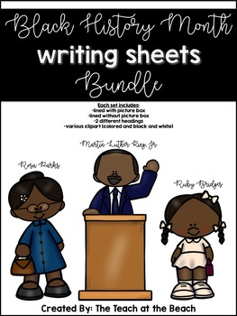 Black History Month Writing Sheets Bundle