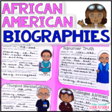 Black History Month Informational Text, Biographies, Close Reading Project
