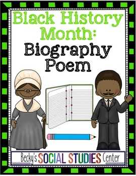 Black History Month for Middle School: Write a Biography P