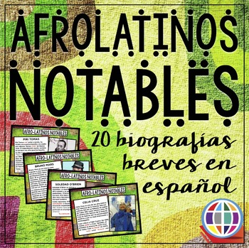 Black History Month for Spanish classes--20 Notable Afro-latinos