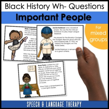 Black History Month for Speech/Language Therapy-Upper Elementary