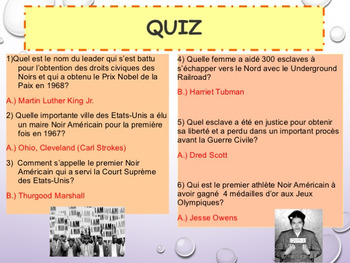 French Black History Month, Martin Luther King Jr. Day PPT