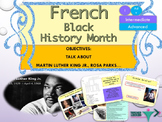 French Black History Month, Martin Luther King Jr. Day : interactive activities