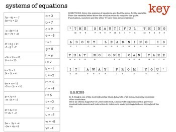 SYSTEMS of EQUATIONS - solving / BLACK HISTORY