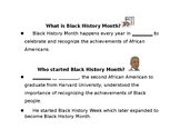 Black History Month notes