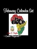 Black History Month~Calendar Set