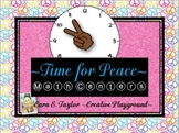 Black History Month~Time for Peace~ Math Centers for Older Students (3-5)